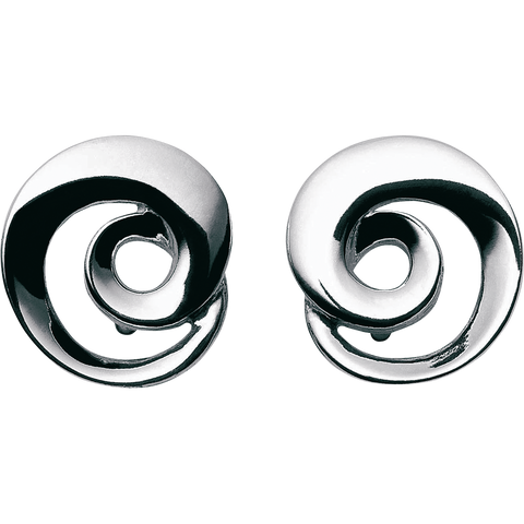 Mobius Earrings In Sterling Silver