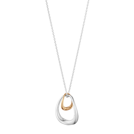 Offspring Pendant - Sterling Silver And 18ct Rose Gold
