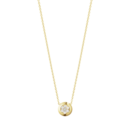 Aurora Pendant - 18 Kt. Yellow Gold With Brilliant Cut Diamonds Pave