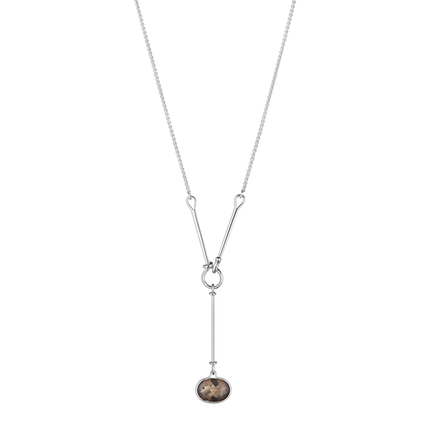 Savannah Pendant - Sterling Silver With Smokey Quartz