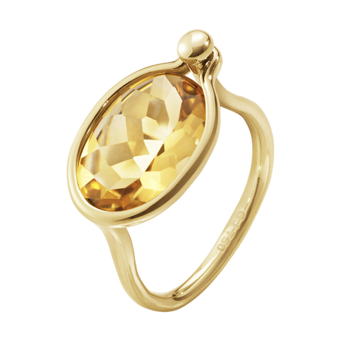 Georg Jensen Savannah Medium Ring 1506b Yg Citrine5