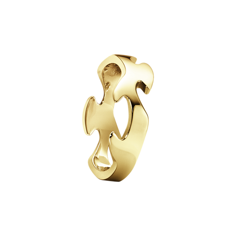 Fusion Centre Ring - 18 Kt. Yellow Gold