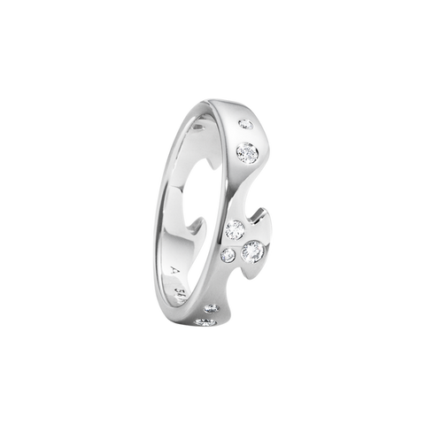 Fusion End Ring - 18kt. White Gold With Diamonds