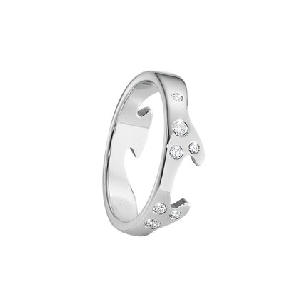 Fusion End Ring - 18kt. White Gold With Brilliant Cut Diamonds