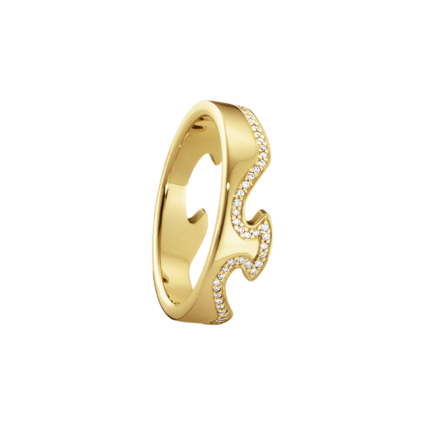 Fusion End Ring - 18kt. Yellow Gold With Brilliant Cut Diamonds