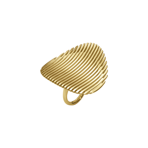 Lamellae Ring I - 18kt. Yellow Gold