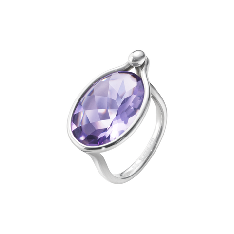Savannah Ring - Sterling Silver With Amethyst, Large