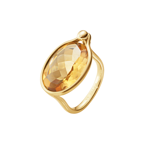 Savannah Ring - 18Kt, Yellow Gold With Citrine, Large