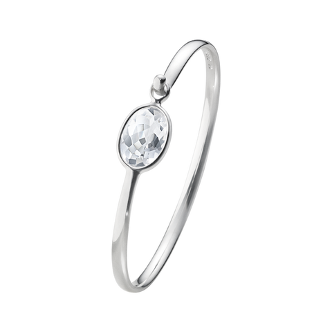 Savannah - Sterling Silver Bangle With Rock Crystal