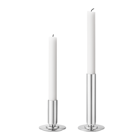 Manhattan candle Holder Set, Stainless Steel, Large And Small