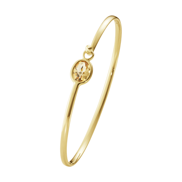 Savannah Bangle - 18Kt Yellow Gold With Citrine