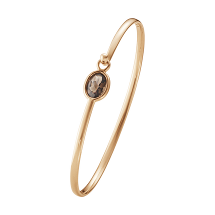 Savannah Bangle - 18Kt Rose Gold With Smokey Quartz