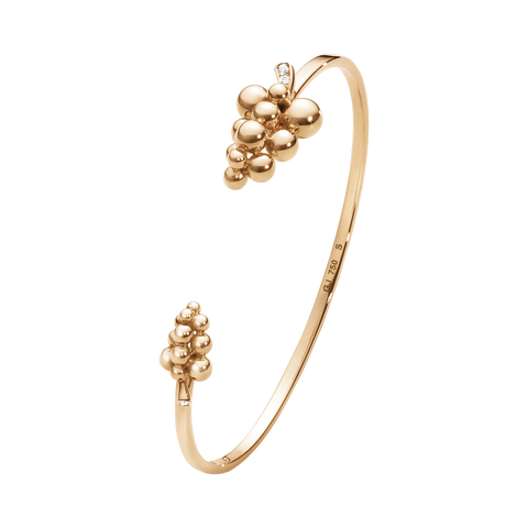 Moonlight Grapes Bangle - 18 Kt. Rose Gold With Brilliant Cut Diamonds