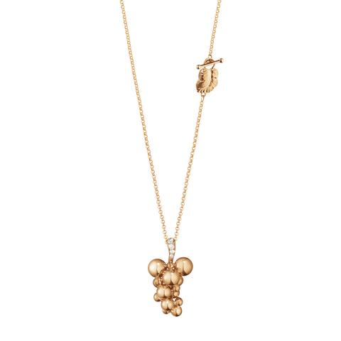 Moonlight Grapes Pendant - 18 Kt Rose Gold With Brilliant Cut Diamonds