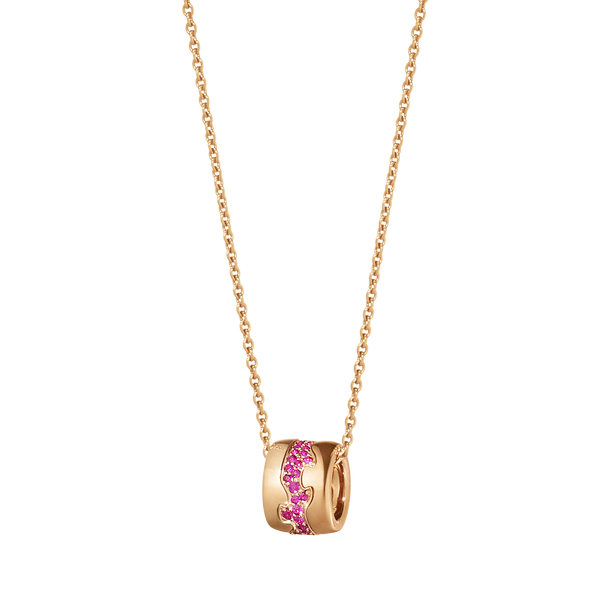 Fusion Pendant - 18 Kt. Rose Gold With Ruby Paví©