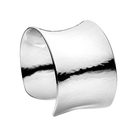 Smithy Cuff Hammered Bangle - Sterling Silver