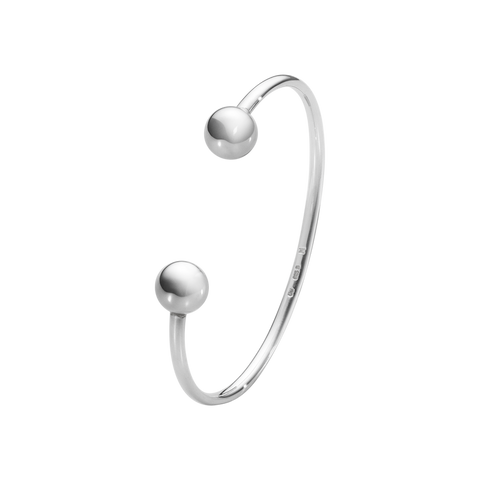 Moonlight Grapes Bangle - Sterling Silver