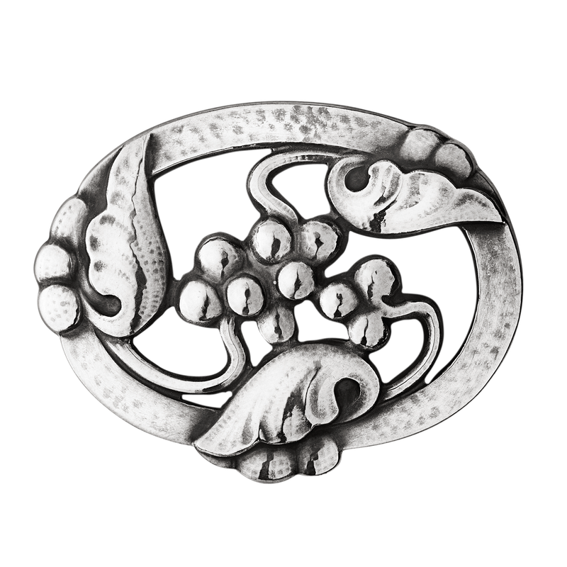 Moonlight Grapes Brooch- Sterling Silver