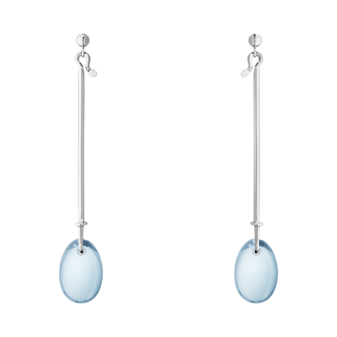 Vivianna Dew Drop Earrings - Sterling Silver With Blue Topaz