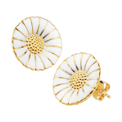 Daisy Earrings - gold plated sterling silver, the perfect birthday gift