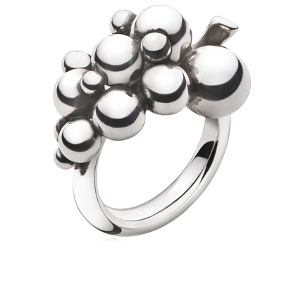 Moonlight Grapes Ring - Sterling Silver, Small