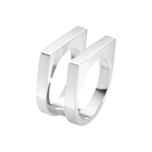 Aria Two Row Ring - Sterling Silver
