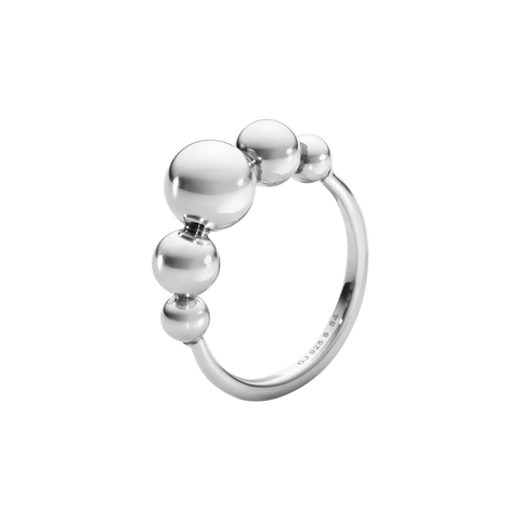 Moonlight Grapes Slim Ring - Sterling Silver