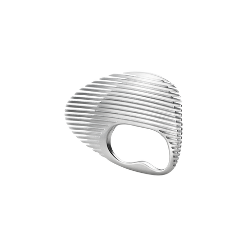 Lamellae Double Ring - Sterling Silver