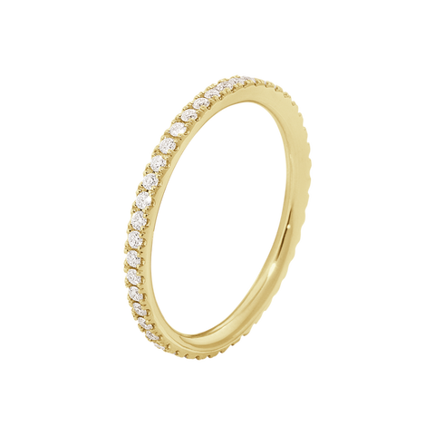 Aurora Ring - 18 Kt. Yellow Gold With Brilliant Cut Diamonds