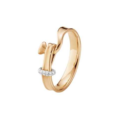 Torun Ring - 18 Kt. Rose Gold With Brilliant Cut Diamonds