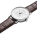 Koppel - 41 mm, Grande Date Annual Calendar, Automatic, White Dial, Brown Alligator Strap