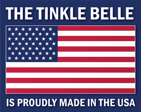 The Tinkle Belle is proudly Made In The USA and has multiple patents.