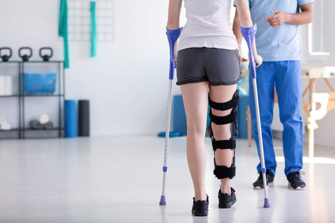 The Tinkle Belle can help those that are in post-op recovery and are having to use crutches, canes or walkers and cannot use a toilet easily or safely
