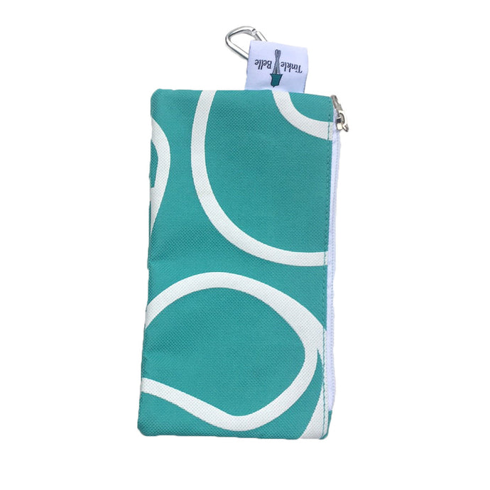 Teal Zippered Carry Case with Caribiner