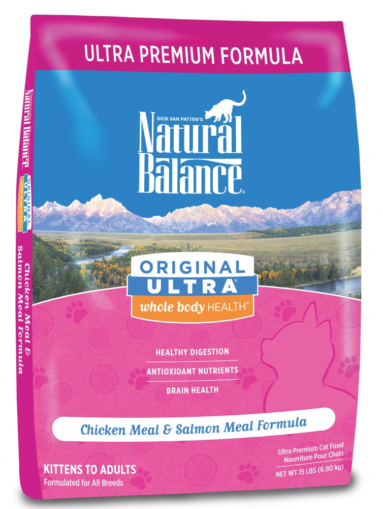 Natural Balance Original Ultra Whole Body Health Chicken Meal and Salmon Meal Dry Cat Food