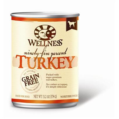 Wellness Natural Grain Free Adult 95% Turkey Canned Dog Food