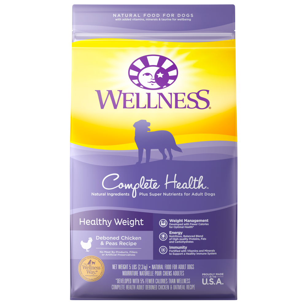 Wellness Complete Health Natural Healthy Weight Chicken and Peas Recipe Dry Dog Food