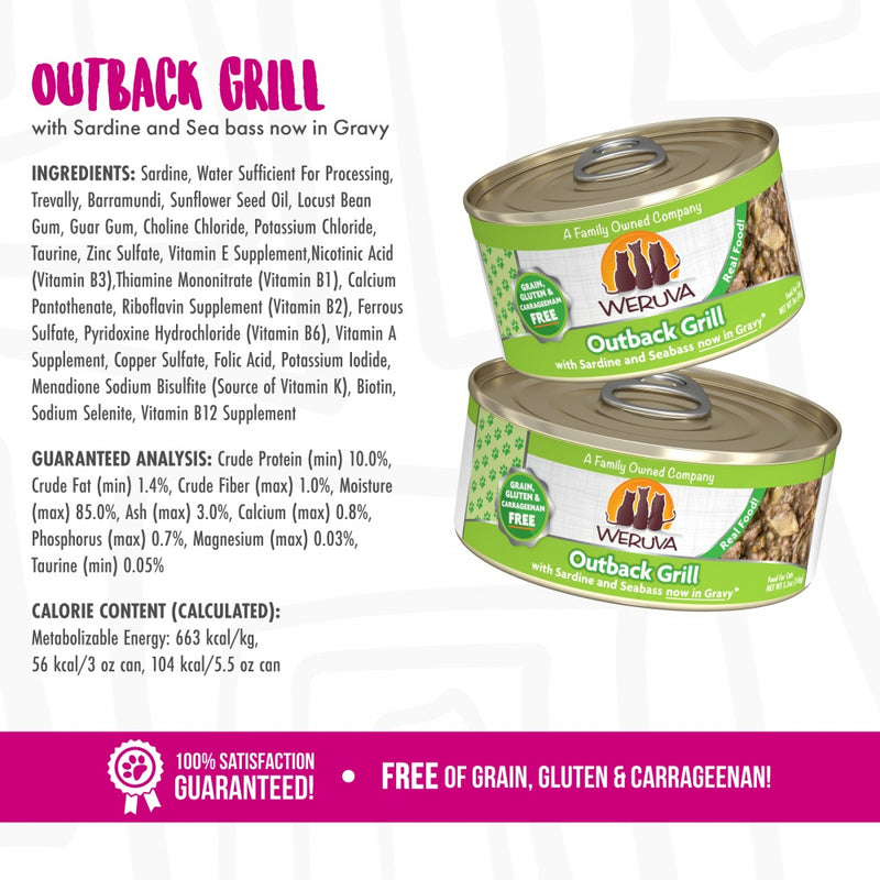 Weruva Outback Grill With Trevally and Barramundi Canned Cat Food