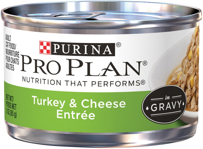 Purina Pro Plan Savor Adult Turkey & Cheese in Gravy Canned Cat Food