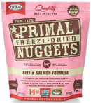 Primal Freeze Dried Nuggets Grain Free Beef & Salmon Formula Cat Food