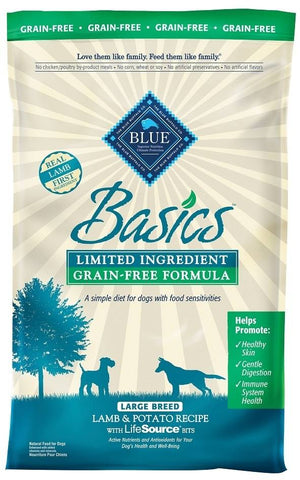 Blue Buffalo BLUE Basics Grain Free Large Breed Adult Lamb and Potato Recipe Dry Dog Food