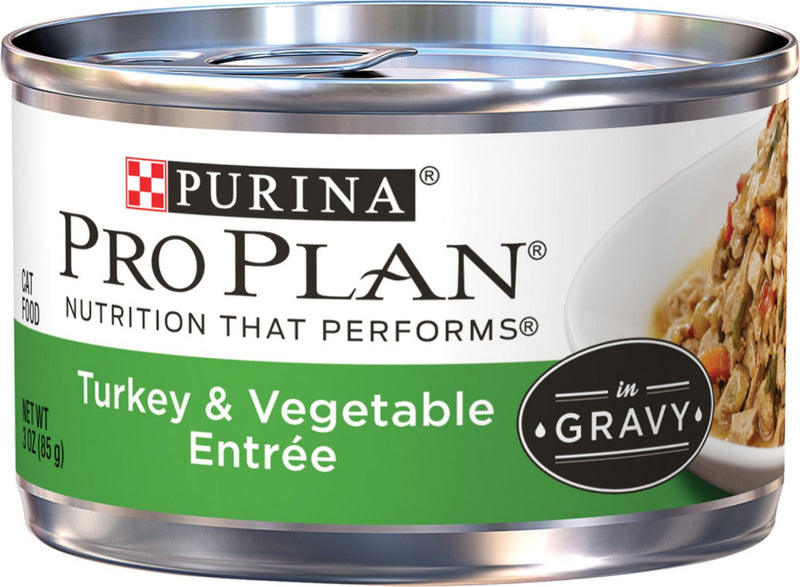 Purina Pro Plan Savor Adult Turkey & Vegetable Entree in Gravy Canned Cat Food