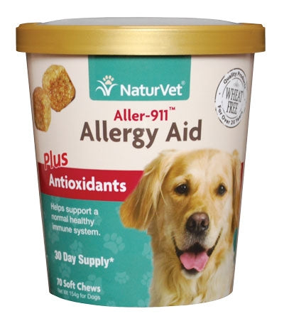 NaturVet Allergy Aid plus Antioxidants Functional Soft Chews for Dogs