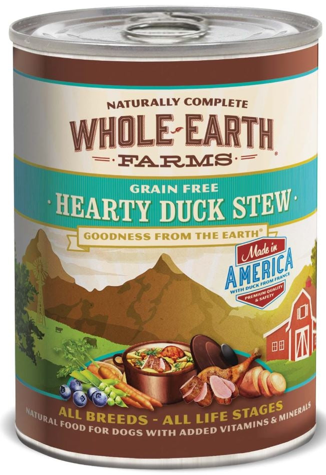 Whole Earth Farms Grain Free Hearty Duck Stew Canned Dog Food