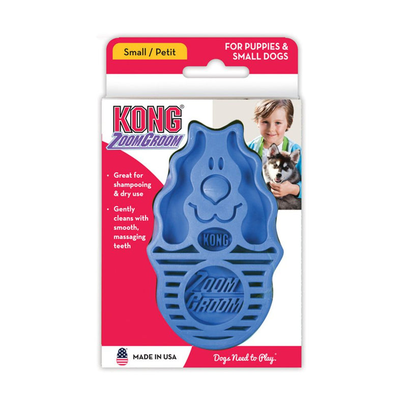 KONG ZoomGroom Brush for Dogs & Puppies