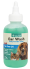 NaturVet Ear Wash with Tea Tree Oil for Dogs and Cats