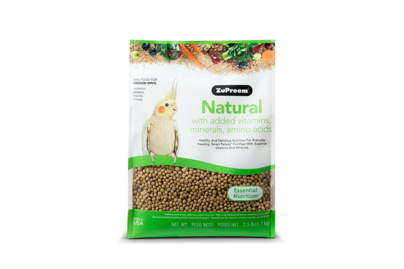 Zupreem Natural Food with Added Vitamins Minerals Amino Acids for Medium Birds