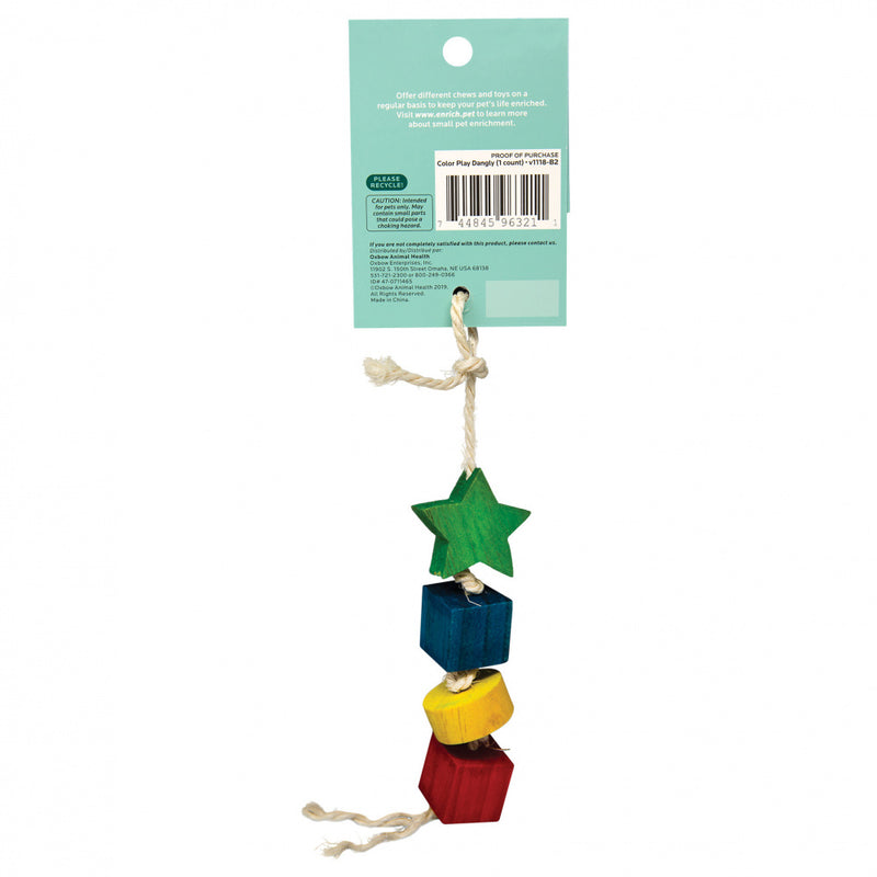 Oxbow Animal Health Enriched Life Color Play Dangly Toy