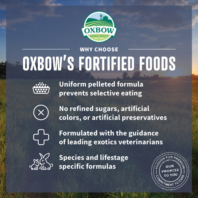 Oxbow Animal Health Garden Select Young Rabbit Food Garden Inspired Recipe for Young Rabbits