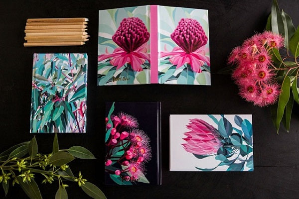 Get creative with our pretty as a protea notebooks and notepads
